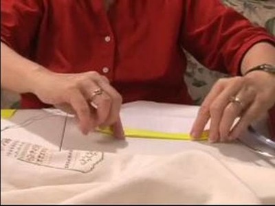 How to Cross Stitch : How to Prepare Cloth for Cross Stitching