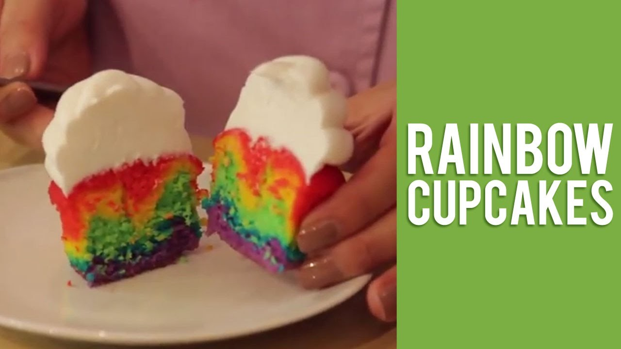 How to Layer your Cupcakes to Make a Rainbow