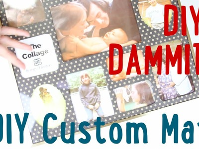HOW TO MAKE A CUSTOM PICTURE FRAME MAT -- DIY, DAMMIT QUICKIE!