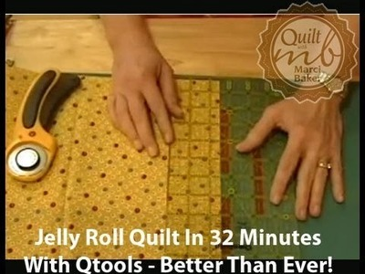 Jelly Roll Quilt in 32 Minutes with Qtools - Better than ever!