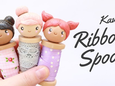 Kawaii Ribbon Spool Doll - Polymer clay Tutorial | 2 Cats & 1 Doll