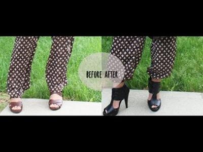 Make Gypsy Pants out of Wide Leg Pants