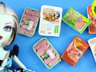 Make Realistic DOLL MEAT products and  sliced salami  - Dollhouse DIY - Easy Doll Crafts