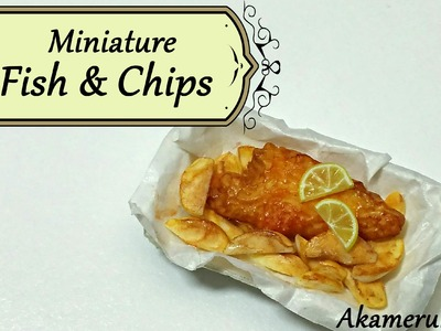 Miniature Fish and Chips - Polymer Clay Tutorial