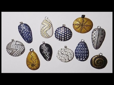 Polymer Clay Charms-Dotted Patterns