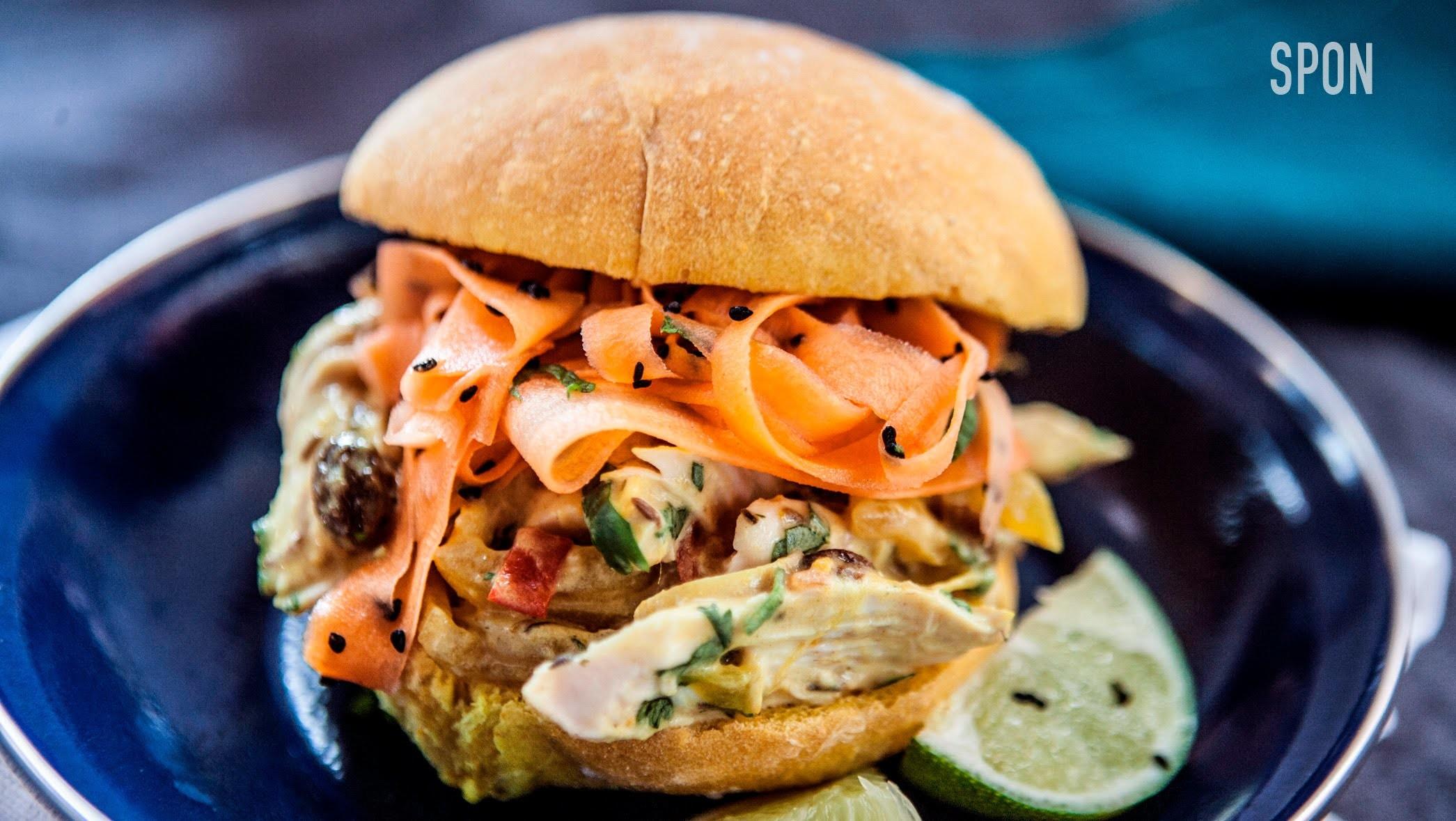 Pulled Chicken Sandwich Recipe | Rennie Mystery Box Challenge 1 #spon