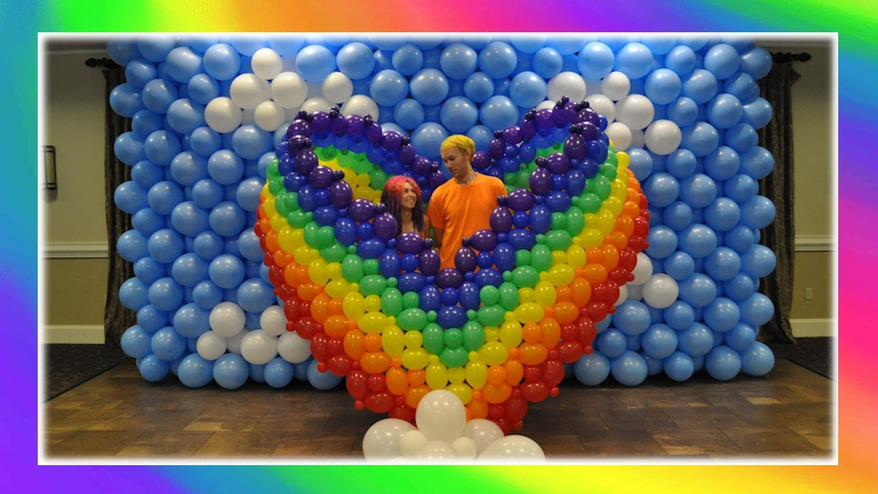 Rainbow Heart Balloon Art!