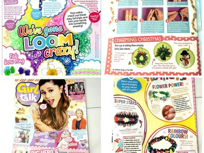 Rainbow Loom - Look whose designs are in Girl Talk Magazine!!!