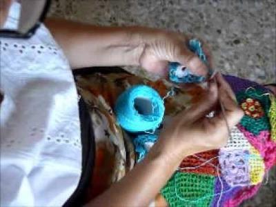 Segundo color en cuadrado de ganchillo