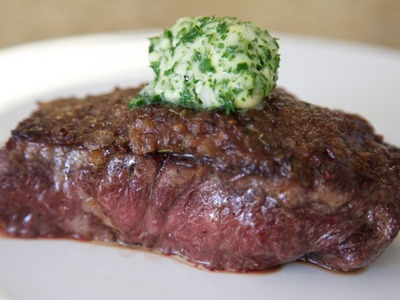 Steak with Caramelized Onions & Herb Butter | Byron Talbott