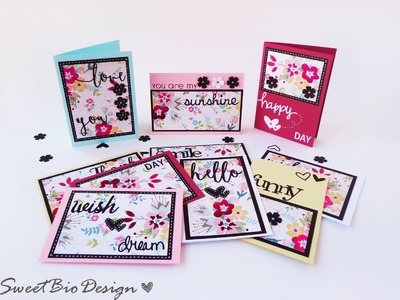 Tuto: 10 card con 1 solo foglio decorato - 10 cards 1 only designed sheet