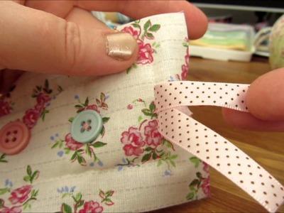 ~Tutorial: Sew a cute fabric bookmark~