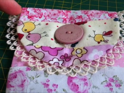~Tutorial: Sew a patchwork cell phone bag~