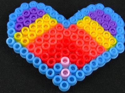 Valentine's Day Heart Perler Beads Kids Creativity