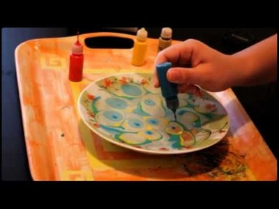 Amazing candle marbling video