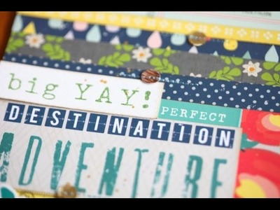 As it Happens :: Destination Adventure travel scrapbook page