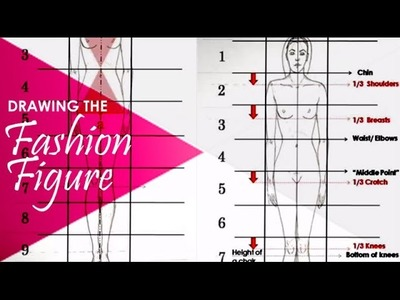 Basic Standing Figure Tutorial: Fashion Design Illustration for beginners