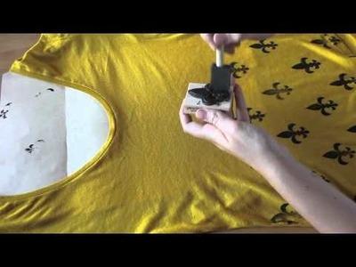 DIY Hand Stamped Shirt
