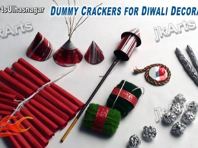 DIY How to make Dummy Crackers for Diwali Decoration(School Project) - JK Arts 417