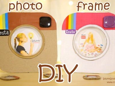 DIY Instagram Photo Frame Out Of a Pizza Box and Pringles Cap - DIY Room Decor Idea