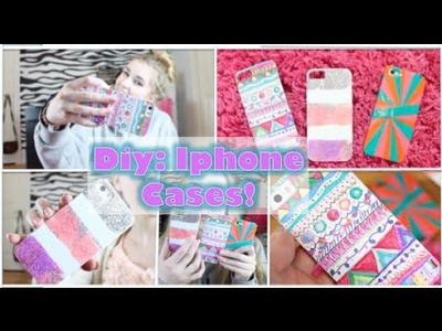 Diy: Iphone Cases! Quick & Cute!