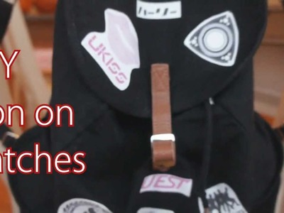 DIY IRON ON PATCHES