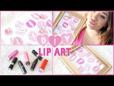 ♡ DIY Lip Art ♡ Valentine's Day Room Decor