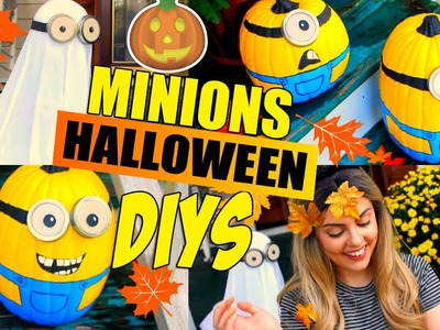 DIY Minions Halloween Decorations Pinterest Inspired Ideas | Minion Pumkins and Ghost DIYs