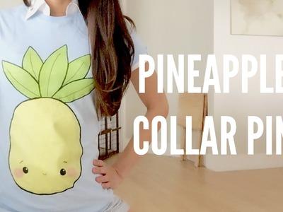 DIY Pineapple Fashion Collar Pin & shirt available!