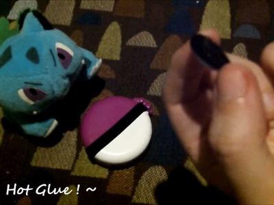 ~ DIY: Pokemon PokeBall Compact, Mirror & Brush ~