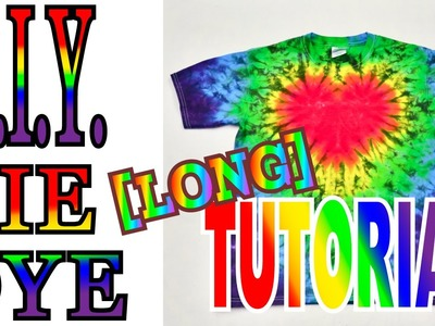 DIY Tie Dye Rainbow Heart Shirt [How to Long Tutorial]