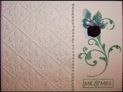Embossed Handmade Wedding Card