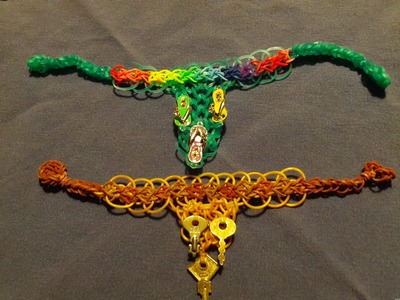 Fancy Schmancy Necklace on a Single Rainbow Loom