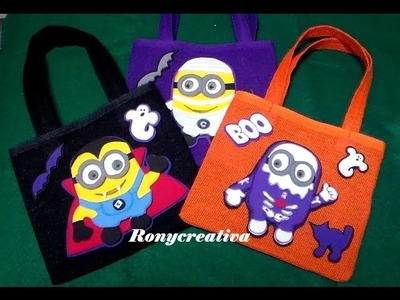 HALLOWEEN MONSTERS MINIONS. DESPICABLE ME HALLOWEEN DIY
