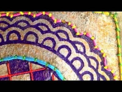 Hand Embroidery Applique Designs with Block Printing