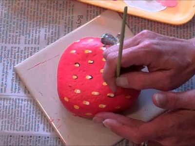 How 2 Paint A Rock Into A Juicy Strawberry