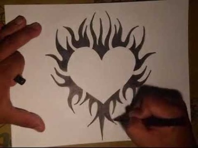 How to Draw a Tattoo Heart- (By WIZARD)