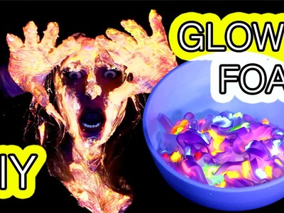 How to make Glow in the Dark UV FOAM - DIY Tutorial - Halloween ideas