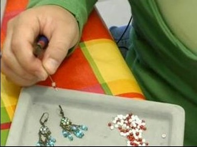How to Make Handcrafted Jewelry : How to Create Hanging Beads on Handcrafted Earrings