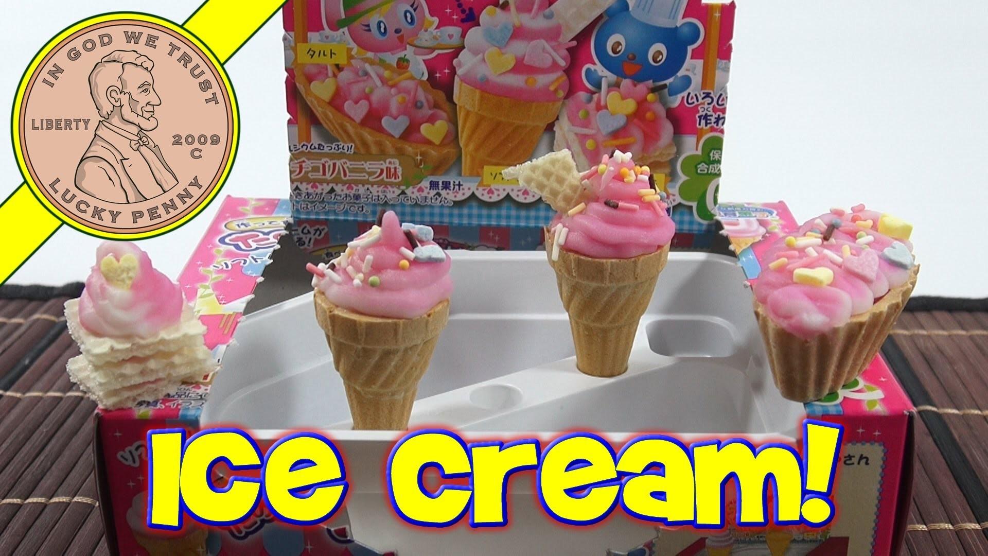 Ice Cream Cone DIY Japanese Kit - Kracie Happy Kitchen Popin' Cookin'