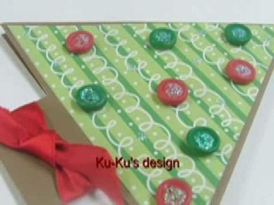 Ku-Ku CARD Pop-Up Chritsmas Tree (Arbolito de Navidad)