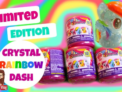 LIMITED EDITION CRYSTAL RAINBOW DASH FASHEMS! - My little Pony Series 3 WAVE 2 Blind Capsules