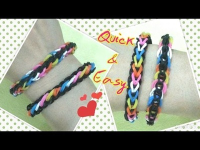 Loom bands rainbow loom Quick & Easy bracelet tutorial (original design)