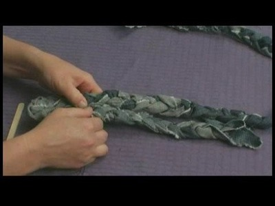 Making Area Rugs From Recycled Jeans : Braided Jeans Rug: Sewing Coils