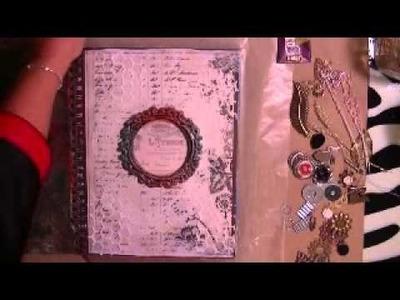 Mixed Media Art Journal Cover (Process Video Pt 1)