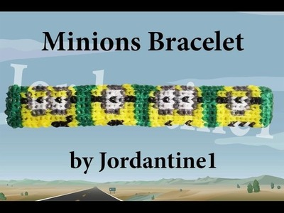 New Minions Bracelet Pattern- Alpha Loom. Rainbow Loom - Despicable Me - Minion