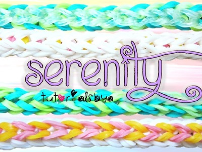 NEW REVERSIBLE Serenity Rainbow Loom Bracelet Tutorial | How To