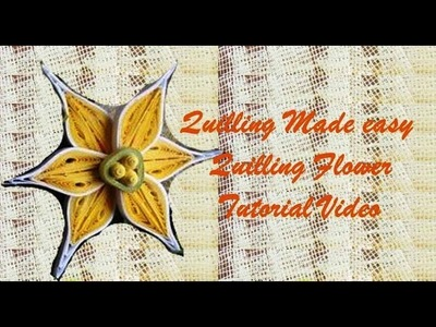 Paper Quilling  How to make Beautiful Quilling Yellow.White New Flower Quilling -Paper Art Quilling
