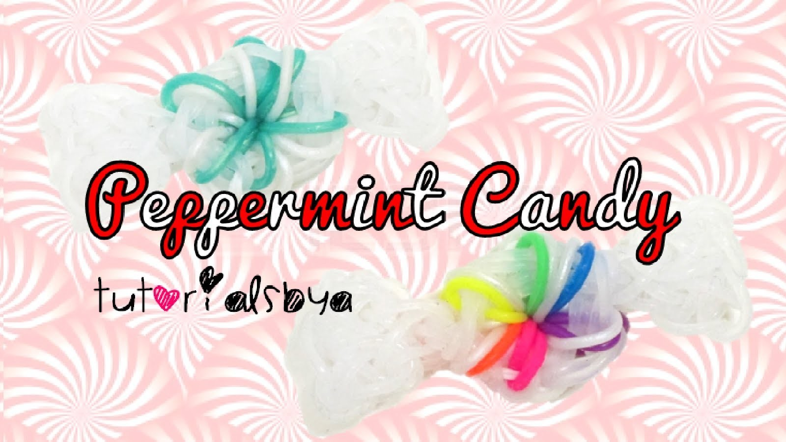 Peppermint Candy Rainbow Loom Charm Tutorial