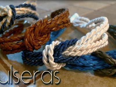 Pulseras con nudo marinero. sailor knot bracelets ♥